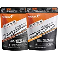 PROCEL® PRO-STANDARD 100% Whey Protein Isolate Powder with Hydrolyzed Whey Peptides - 200g Pack of 2 (Swiss Milk Chocolate & Mango Lassi)