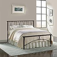 FurnitureKraft Double Size Metal Bed (Carbon Steel - Black)