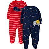 Simple Joys by Carter's 2-Pack Cotton Footed Sleep and Play Bebé-Niños, Pack de 2