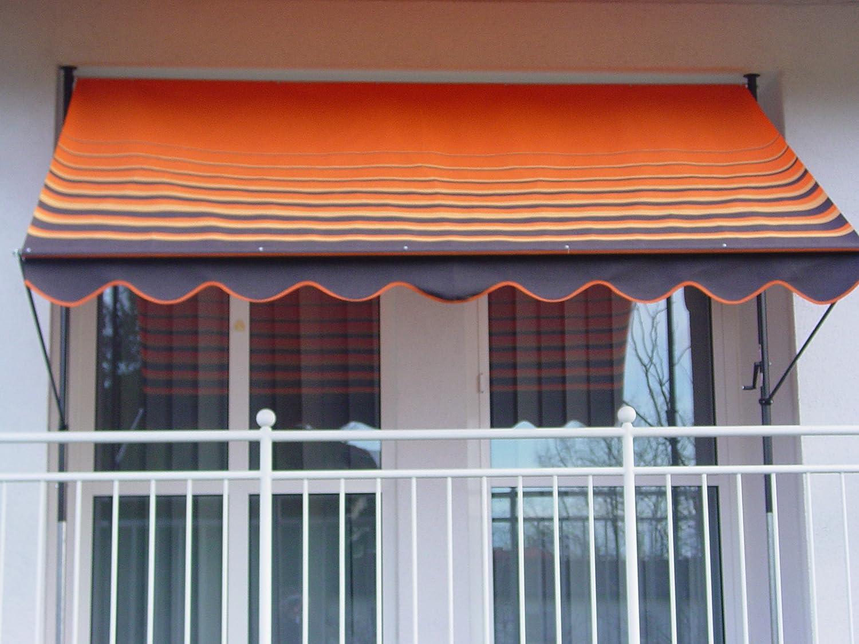 Angerer Klemmmarkise Dralon Nr 200 Orange 300 cm Amazon Garten