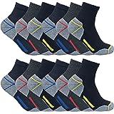 Sock Snob Chaussettes de travail à la cheville en coton rembourré ultime pour hommes pour bottes à bout en acier
