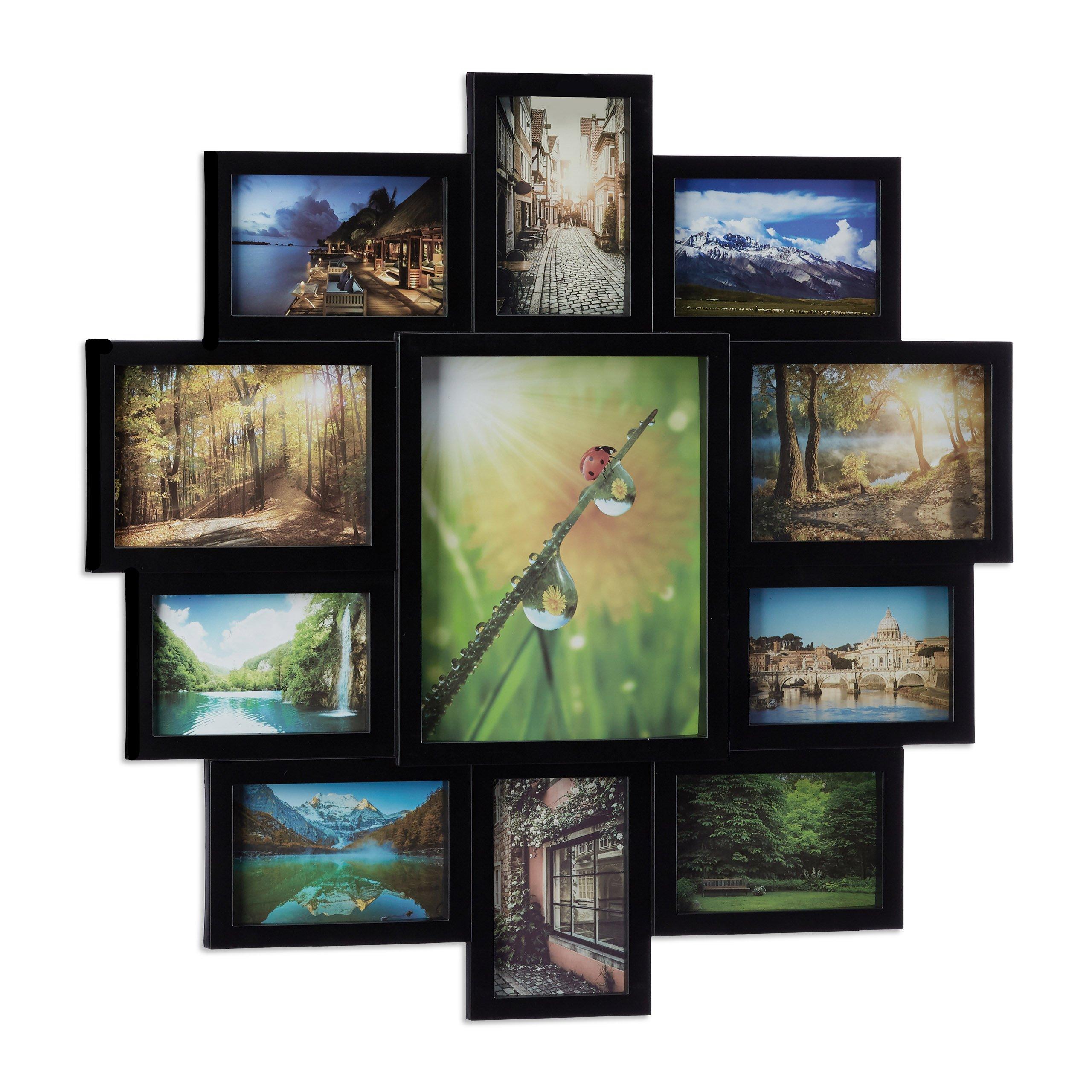 Relaxdays Bilderrahmen Collage, Bildergalerie für 11 Fotos ...