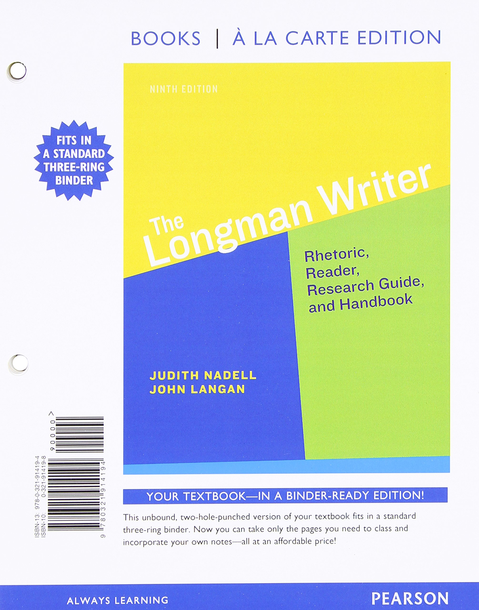 The Longman Writer + Mywritinglab With Etext Access Card: Books a La Carte Edition