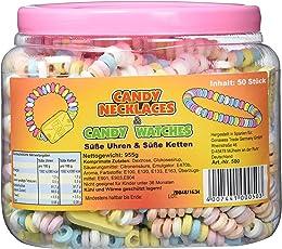 Süße Uhren und süße Ketten Candy Nacklaces 50 Stück