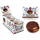 Daelmans Chocolate Stroopwafels | Caramel Chocolate Stroopwaffle | Chocolate Wafers - 78 g x 18 in a Box - Warm it up on…