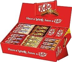 Nestlé Party Box (mit 6 Sorten KitKat und Lion, Schokoriegel-Mix, für große und kleine Naschkatzen, schokoladige...