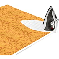 Encasa Homes Ironing Mat (Large 120 x 70 cm) with 3mm Felt Padding, Silicone Iron Rest Protector, For Steam Press on Table or Bed, Portable, Heat Reflective, Foldable, Washable, Printed - Dots