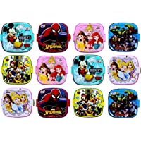 Perpetual Bliss Fancy Disney Theme Square Lunch Box Double Layer for Kids Return Gifts {Dimension}cm: 13x13x10 (Pack of…