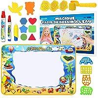 Tapis Dessin Enfant Eau GRAND Format 100*70cm - Jouet Enfant Tampon Aquadoodle - Tapis De Coloriage Geant Lavable SUPER…