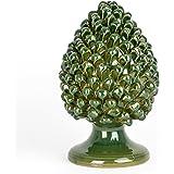 Pigna Verde H cm 30 in Ceramica di Caltagirone Fatta a Mano