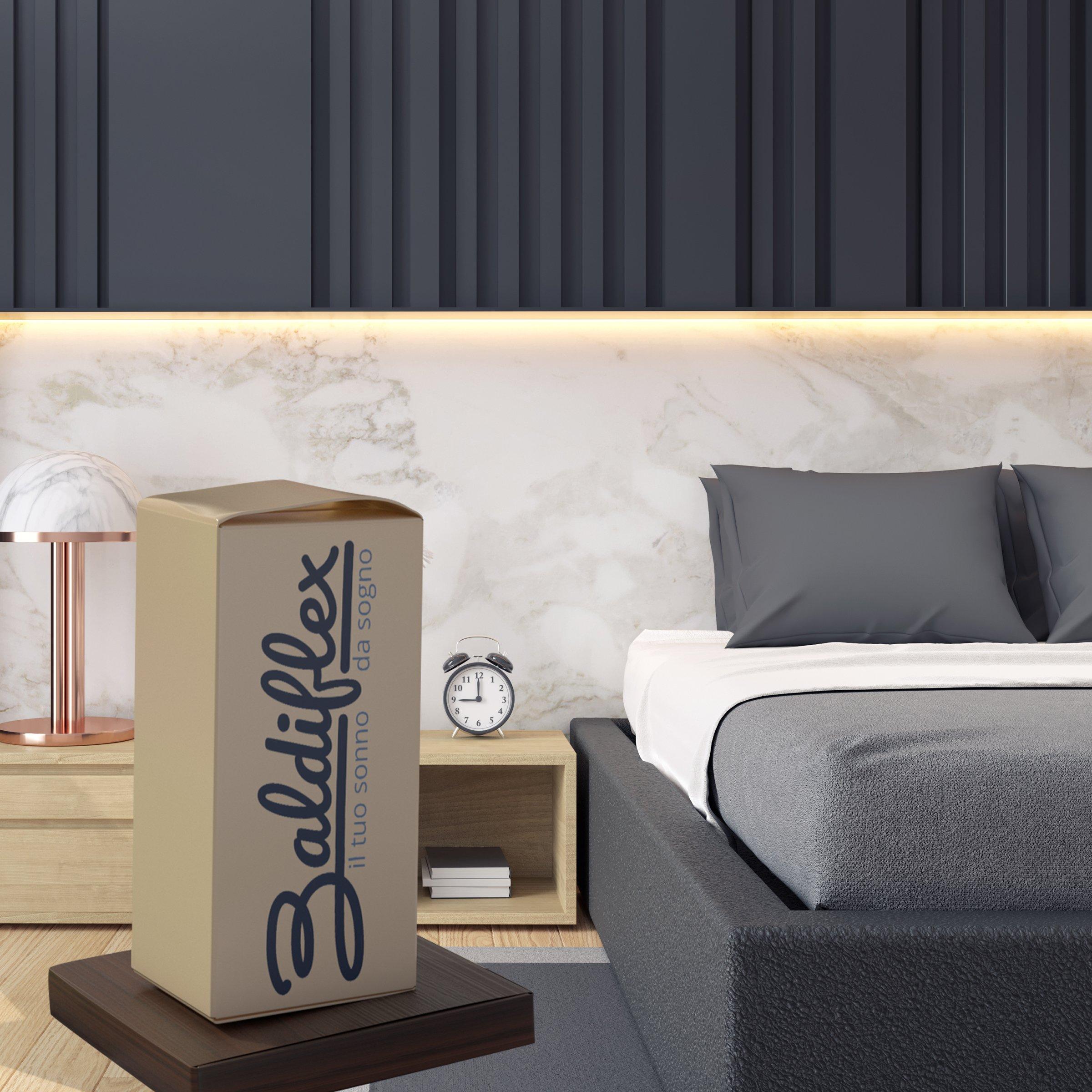 Baldiflex Materasso Matrimoniale in Memory Foam 160x190 Alto 23 cm ...