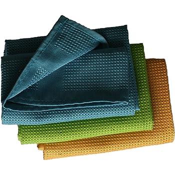 PEARL Mikrofaser-Küchentuch zum Trocknen /& Polieren 3D-Waffelpiqué 9er-Set