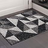 Color&Geometry Non-slip Dirt Trapper Door Mat 50 x 80 cm, Machine Washable Soft Doormat Barrier Rug Entrance Rug for…