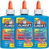 Elmer'S Colla Vinilica Colorata, Lavabile, Ottima per Realizzare Slime, Blu, 147 ml, 3 Pezzi