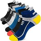 Onmaita Calcetines Cortos Hombre y Mujer, 6 Pares Calcetines Tobilleros de Algodón,Calcetines Deporte para Running Fitness Tr