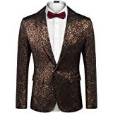 COOFANDY Men's Casual Blazer Jackets One Button Fitted Dress Tuxedo Suit Jacket