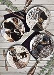 Keramika 25 cm Servis Tabağı Afrikalı Kadınlar, 4 Parça
