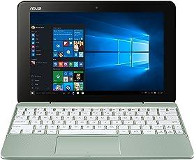 """Asus Transformer T101HA-GR043T Notebook Convertibile, Display da 10.1"""", Processore Intel Atom Z8350 Quad Core, 1.44 GHz, eMMC da 64 GB, 4 GB di RAM, Verde Menta"""