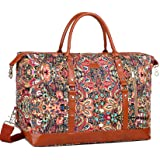 BAOSHA Handgepäck Reisetasche Sporttasche Weekender Tasche für Kurze Reise am Wochenend Urlaub Arbeitstasche HB-14 (Blumendru
