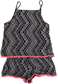 Strap Romper for Girls Kids Ex High Street Plain Playsuit Pom Pom Trim Summer Shorts