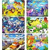 Charlemain Puzzle per Bambini 2 3 4 5 6 7 8 Anni, Giocattoli Montessori, 6 Pezzi Giocattolo di Legno per Bambini, Gioco Impil