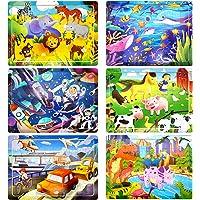 Puzzle en Bois Enfant, 6Pcs 60 Pièces Jouet Puzzle Enfant 3 4 5 6 Ans, Jouet Montessori Éducatif avec 6 Thèmes, Animaux…