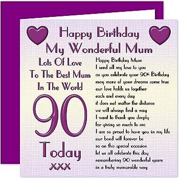 Mum 90th Happy Birthday Card