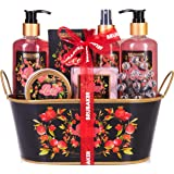 BRUBAKER Cosmetics - Coffret de bain & douche - Fruit de la passion/Love - 12 Pièces - Bassine vintage décorative - Idée cade