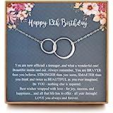 LOVEMY Sweet 13th Birthday Gifts for Girls, Birthday Gifts for her, Presents for 13 Year Old Girls, Sterling Silver 2…