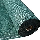 Masgard® brise vue renforcé vert 150 g/m² brise vent tissu d'ombrage différentes dimensions (2,00 m x 10,00 m = 20 m² (pliée)