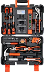 BLACK+DECKER BMT154C Professional Hand Tool Kit (154-Pieces), Orange and Black