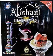 Alshan Silver Foils / Aluminium Foil for Hookah (Silver, AlshanSilverFoil)- 50 Pieces
