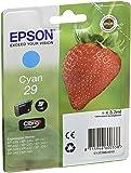 Epson Original T2982 Tintenpatrone Erdbeere, Claria Home Tinte, Text- und Fotodruck (Singlepack) cyan