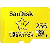 SanDisk microSDXC UHS-I Speicherkarte für Nintendo Switch 256 GB (V30, U3, C10, A1, 100 MB/s Übertragung, mehr Platz für…