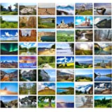 48 Blank Greeting Cards with Landscape Photos (Mixed Landscapes)