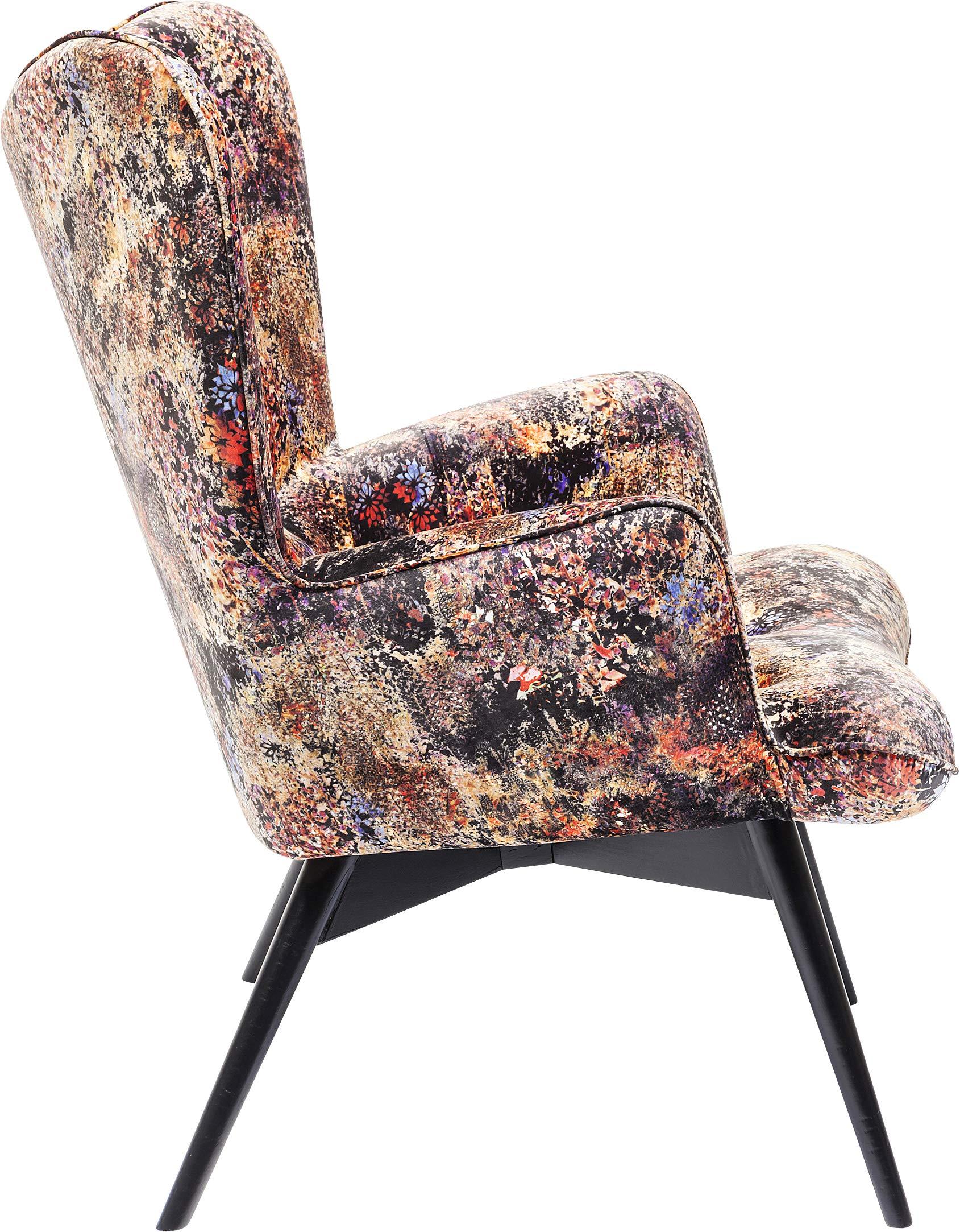Kare Design Sessel Vicky Velvet Tropical Safari, samtiger Loungesessel, TV Sessel mit dunklem ...