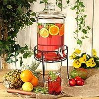 bar@drinkstuff Round Drink Dispenser with Stand 168oz / 4.8ltr - Beverage Dispenser, Vintage Beverage Dispensers
