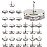 Meubel-vilten pads - 28 mm diameter vilten pads voor meubelpoten. 5 mm dikke stoelpoot-vloerbeschermers. Meubelpads met eenvo
