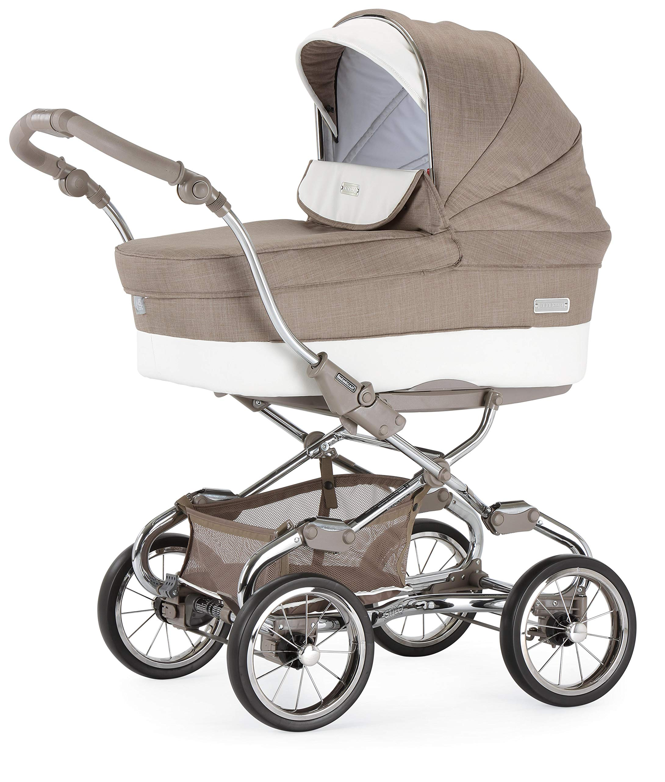 Bebecar Stylo Class XL Travel System Pack in Topo - Includes Puschair, Carrycot & Eazymax Seat Bebecar Assembled- 57cm(W) x 101cm(H) x 102cm(D) Folded- 57cm(W) x 41cm(H) x 82cm(D) Weight- 11.1kg 1