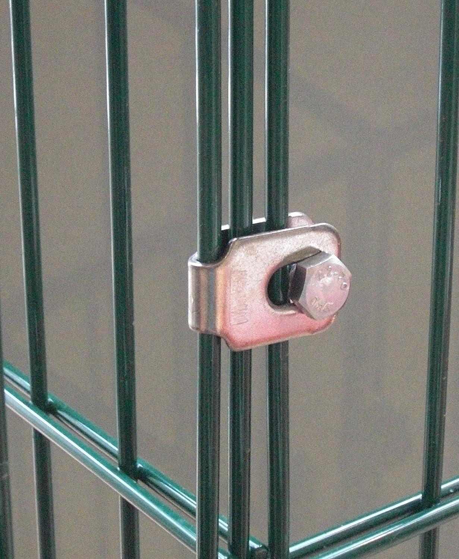 Eckverbinder Schelle für Gabionen Zaun Doppelstabmatten
