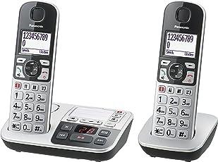 Panasonic KX-TGE522GS Senioren-Telefon, Silber/Schwarz