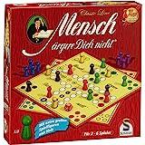 Schmidt Games 49330 Classic Line, Mensch ergere Dich Niet, met extra grote speelfiguren gemaakt van hout, FFP, kleurrijk