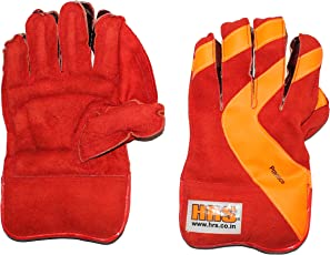 HRS Boys Practice Wicket Keeping Gloves (Multicolour)
