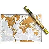 Weltkarte zum Rubbeln - Kratze Orte ab, an die du reist! - Kartografische Details - 84,1cm (B) x 59,4 cm (H)