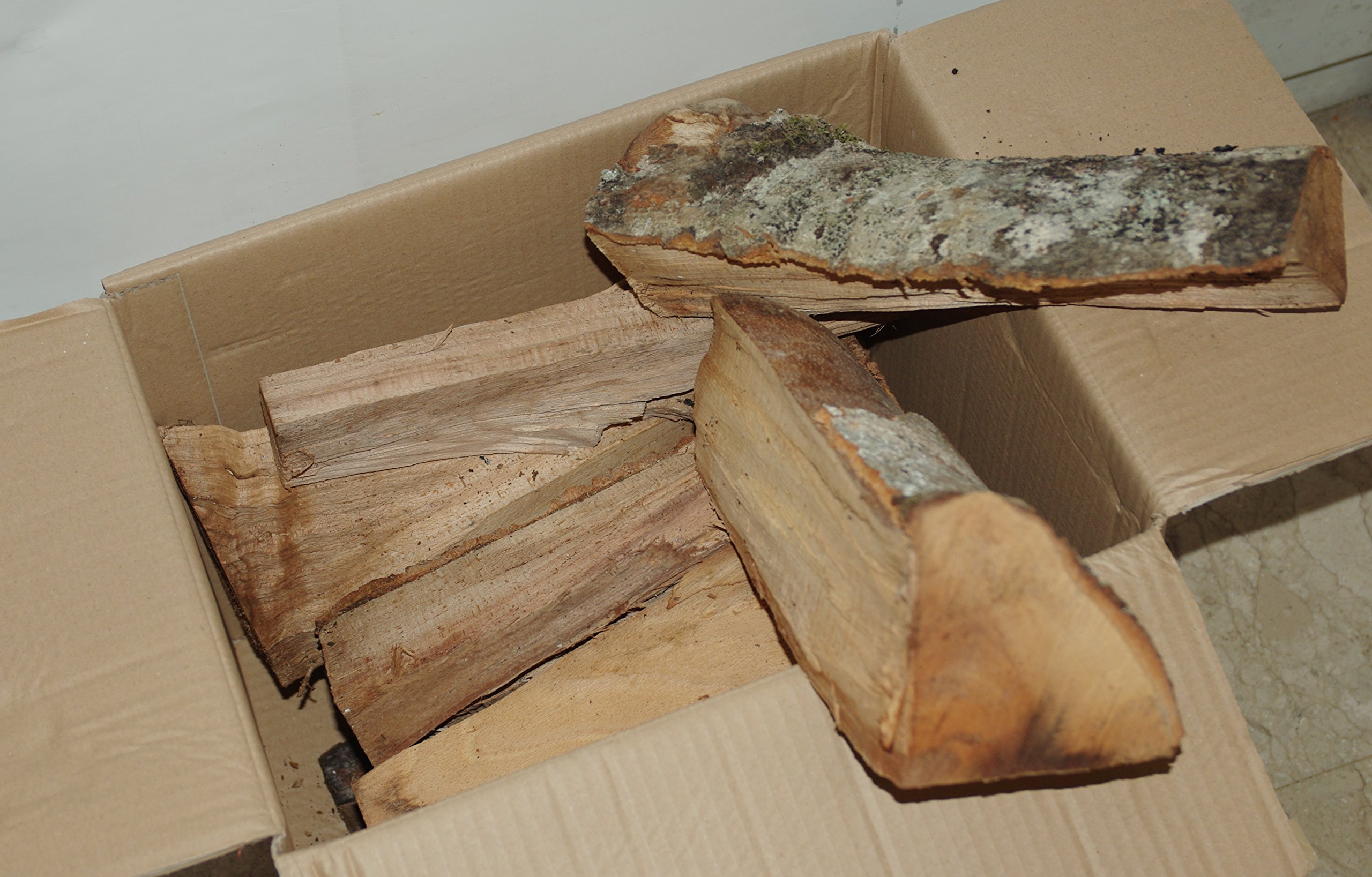 ZAMBONIN Madera de Haya en cepas de 33 cm de Longitud en Caja de 12 kg.