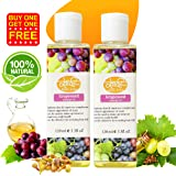 Khadi India grapeseed massage oil -120ml (best face massage oil, absorbs quickly, non greasy feel, for all skin types)