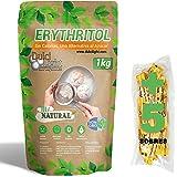 DULCILIGHT Eritritol 1 Kg 100% Natural Edulcorante Cero Calorías + (5 sobres Edulcorante Moreno) Apto Dietas Keto y Cetogénic