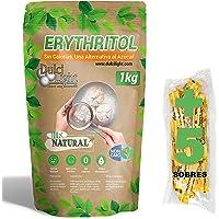 Édulcorant Érythritol 1Kg 100% NATUREL 0 CALORIES DulciLight | 5 Sticks libres d'édulcorant brun | Substitut au sucre…