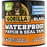 Gorilla Waterproof Patch & afdichtingstape: 4 in. x 10 ft. (Zwart)