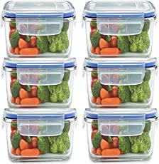 JN-STORE Plastic Air Tight Square Storage Box/Cereal Dispenser Jar, 400ml, 20x120x70mm(Transparent) - Set of 6